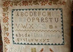 Butternut Tavern primitive cross stitch chart Stacy Nash Primitives