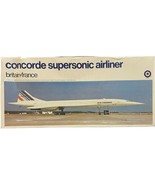 ENTEX CONCORDE SUPERSONIC AIRLINER BRITAIN FRANCE AIRPLANE 1/100 MODEL KIT - $29.69