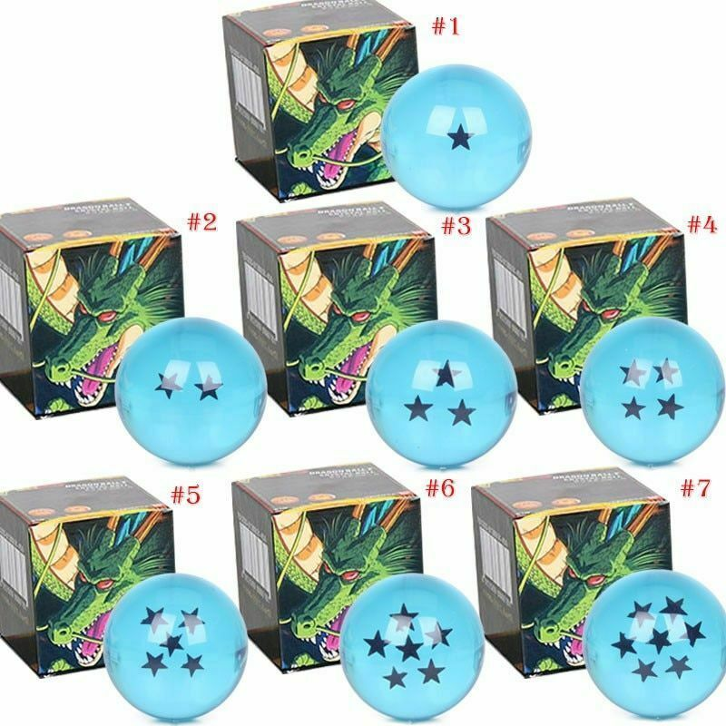 Primary image for Dragon Ball Z Stars Crystal Balls Blue 7 Cm Large Elegant Gift Box Complete Set