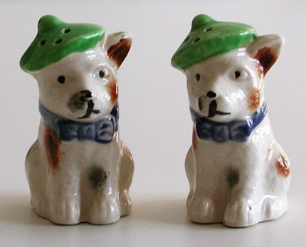 Occupied Japan Scotty Dogs Salt Pepper Shakers Vintage