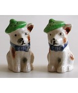 Occupied Japan Scotty Dogs Salt Pepper Shakers Vintage - $29.00