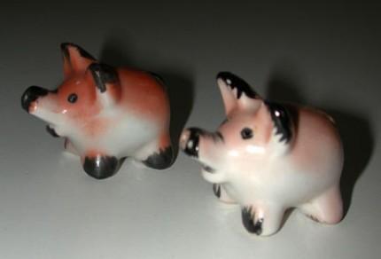 Occupied Japan Baby Pigs Salt Pepper Shakers