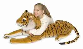 Giant Plush Tiger Soft & Cuddly Life-Like Details (Body About 47 IN, Tail 30 IN) image 3