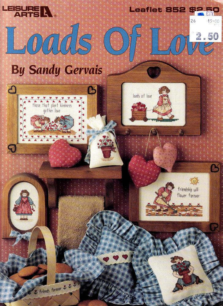 CROSS STITCH LOADS OF LOVE LEISURE ARTS 852