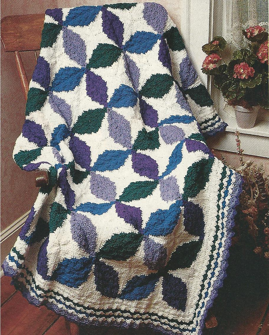 RARE~Ice Cream Cone Afghan Crochet Pattern~HTF + the entire magazine~C PICTURES