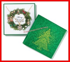 Christmas Necklace Wreath Necklace and Earring Holiday Gift Set (Circa 2... - $14.80