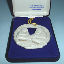 "Gorham JOYS of CHRISTMAS Noel 1982 Ornament Medallion ""Christmas Puppies... - $22.90"