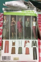 2004 Simplicity Sewing Pattern 4885 SZ 14-22 Top Pants Skirt Jacket Scar... - $5.45