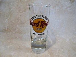 Vintage Hard Rock Cafe HOLLYWOOD Shot Glass SAVE THE PLANET Souvenir Col... - $7.99