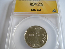 Maryland Quarter , 2000 P , MS 64 , ANACS Certified - $15.00