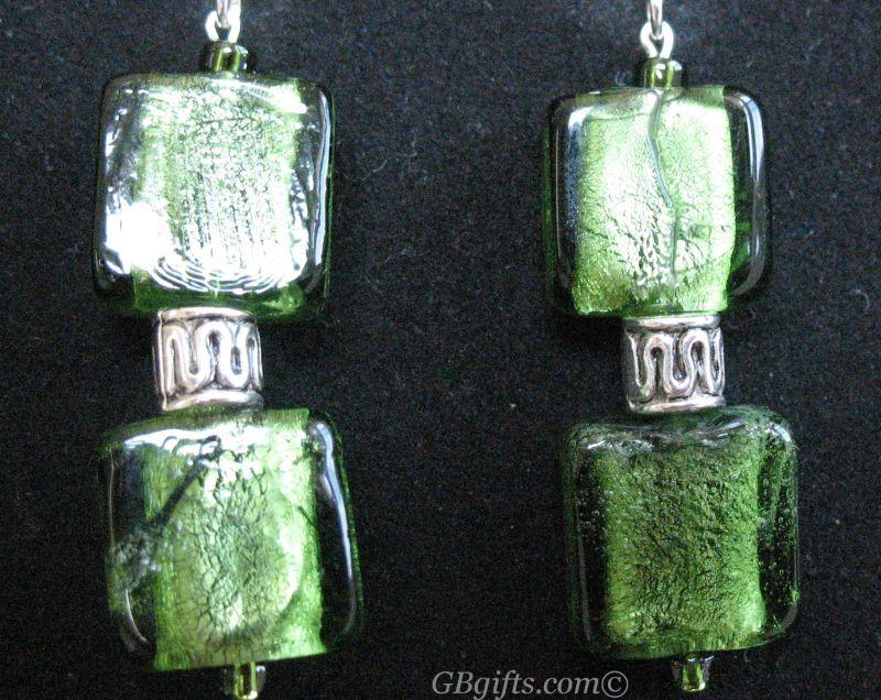 Green Earrings  #EG0600001