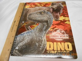 New Dino Tracker Jurassic World spiral paper notebook Home or school Eas... - $5.93