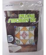 Fruit of the Loom Pillow Stitchery Kit BLEEDING HEARTS - $14.84