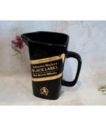 JOHNNIE WALKER Black Label Scotch Whisky Glass Pitcher Jug SETON Pottery... - $19.99