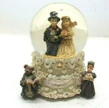 Boyd's Bears Forever Musical Snow Globe Wedding Love's A Many Splendor T... - $24.70