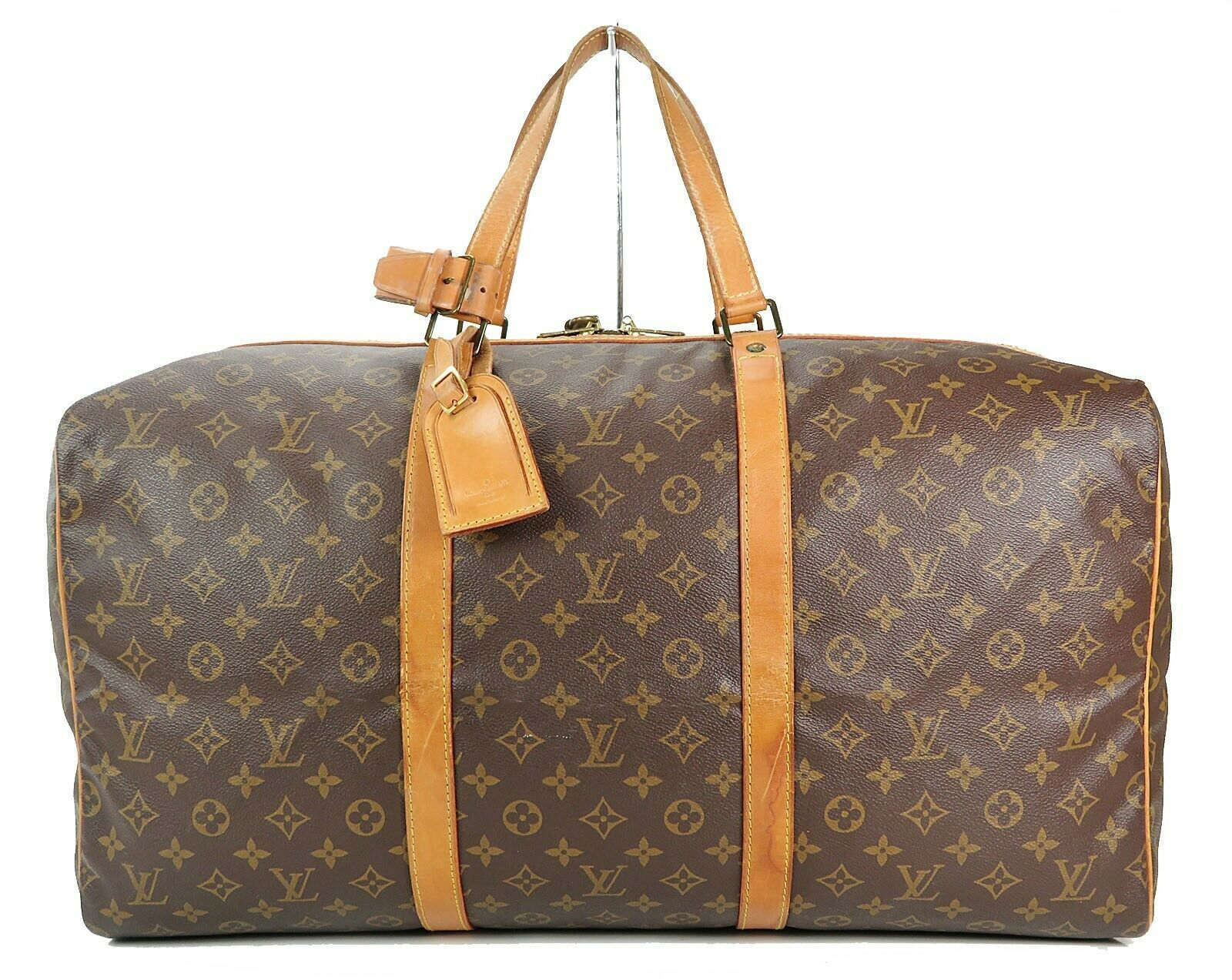 Authentic LOUIS VUITTON Sac Souple 55 Monogram Tote Duffle Bag #34978