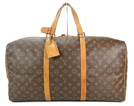 Authentic LOUIS VUITTON Sac Souple 55 Monogram Tote Duffle Bag #34978 image 1
