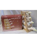 Ceramic Measuring Ducks with Wood Rack For Wall Hanging - $40.00