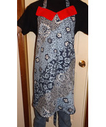 Blue flower full length adult apron SOLD - $30.00