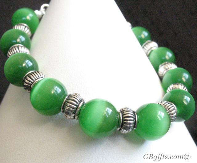 Green Catseye Bracelet  #BG0800003