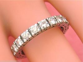 VINTAGE MID-CENTURY 1.50ctw DIAMOND PLATINUM ETERNITY BAND RING 1950 siz... - $3,410.55