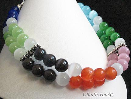 Multicolor Catseye Bracelet  #BG0900005