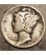 1931-D Silver Mercury dime - rare date! - $9.50