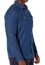 Levi's Men's Big & Tall Barstow Western Pearl Snap Casual Denim Dress Shirt image 9