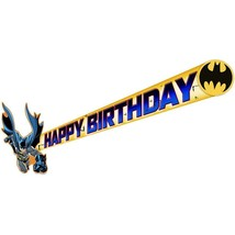 DC Batman Happy Birthday Banner Plastic 5 Foot Long 1 Per Package Party Supplies - $5.89