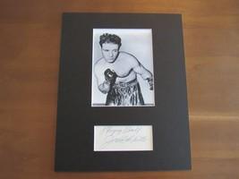 """Jake Lamotta """"Raging Bull"""" Boxing Hof Signed Auto 8X10 Matted Cut & Photo Jsa - $148.49"""