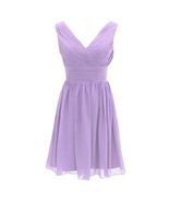 Lavender Short Homecoming  Dresses 2018 Women Girls Bridesmaid Dress Coc... - $48.00