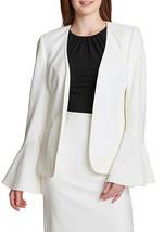 NWT CALVIN KLEIN CREAM OFF WHITE CAREER JACKET BLAZER SIZE 14 $139 - $37.99