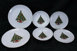 Jamestown China Xmas Tree Lot of 6 - $39.19