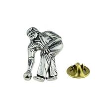 Bowls, Bowler, Bowling  tie pin, Lapel Pin Badge, in gift box