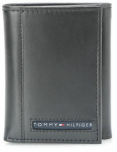 Tommy Hilfiger Men's Premium Leather Credit Card Id Wallet Trifold Black 5676-1 image 1