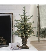 "36"" Lighted Pre Lit Entryway Tree Christmas Tree With Lights Holiday Dec... - $72.76"
