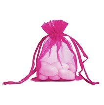 100pcs Hot Pink Organza Drawstring Pouches Jewelry Party Wedding Favor Gift Bags