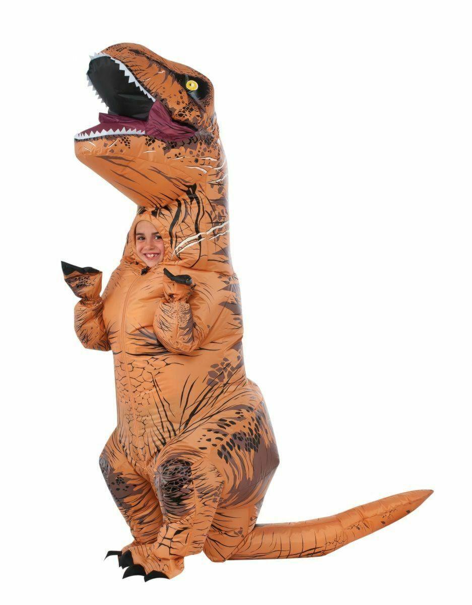 Rubies Inflatable T-Rex Jurassic World w/ Sound Childs Halloween Costume 640183