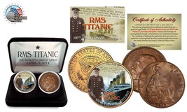 1912 TITANIC 100th Anniversary 2 Coin UK USA Set  Limited of 1,912 RMS C... - $19.34