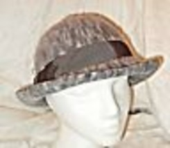 COOL VINTAGE KANGOL GREY FLECK SEMI STRUCTURE BOWLER HAT STYLE WARM COSY... - $17.37