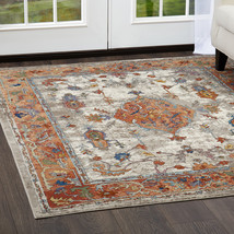 Traditional Oriental Transitional Rust Area Rug **FREE SHIPPING** - €43,55 EUR+