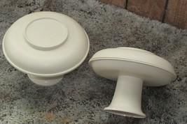 TUPPERWARE vintage almond 2 pc. -  pedestal w/lid that doubles as plate  (e) - $8.60