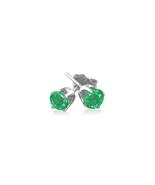 Women's 0.50 Ct Twt Green Emerald Stud Earrings in Sterling Silver - $149.15