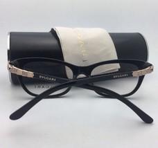 New BVLGARI Eyeglasses 4078-B 501 53-16 140 Shiny Black Frame w/ Crystals