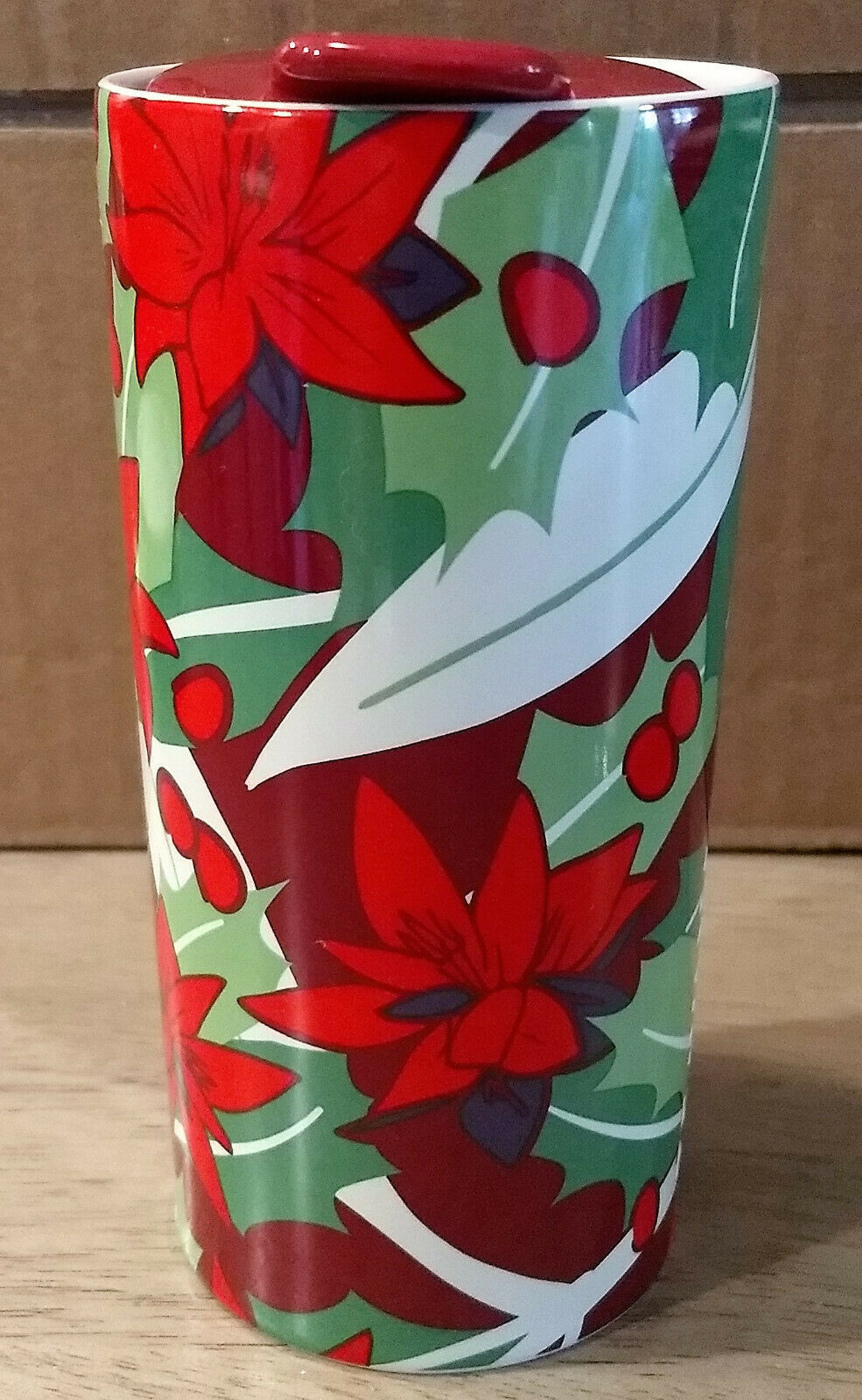 Teavana Floral Travel Tumbler Coffee Tea Cup Ceramic with Lid - Ex - See pics - $18.00