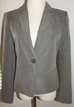 New Ann Taylor Loft Sz 4 Blazer One-Button Suit Jacket Beige Lined $98 - $35.23