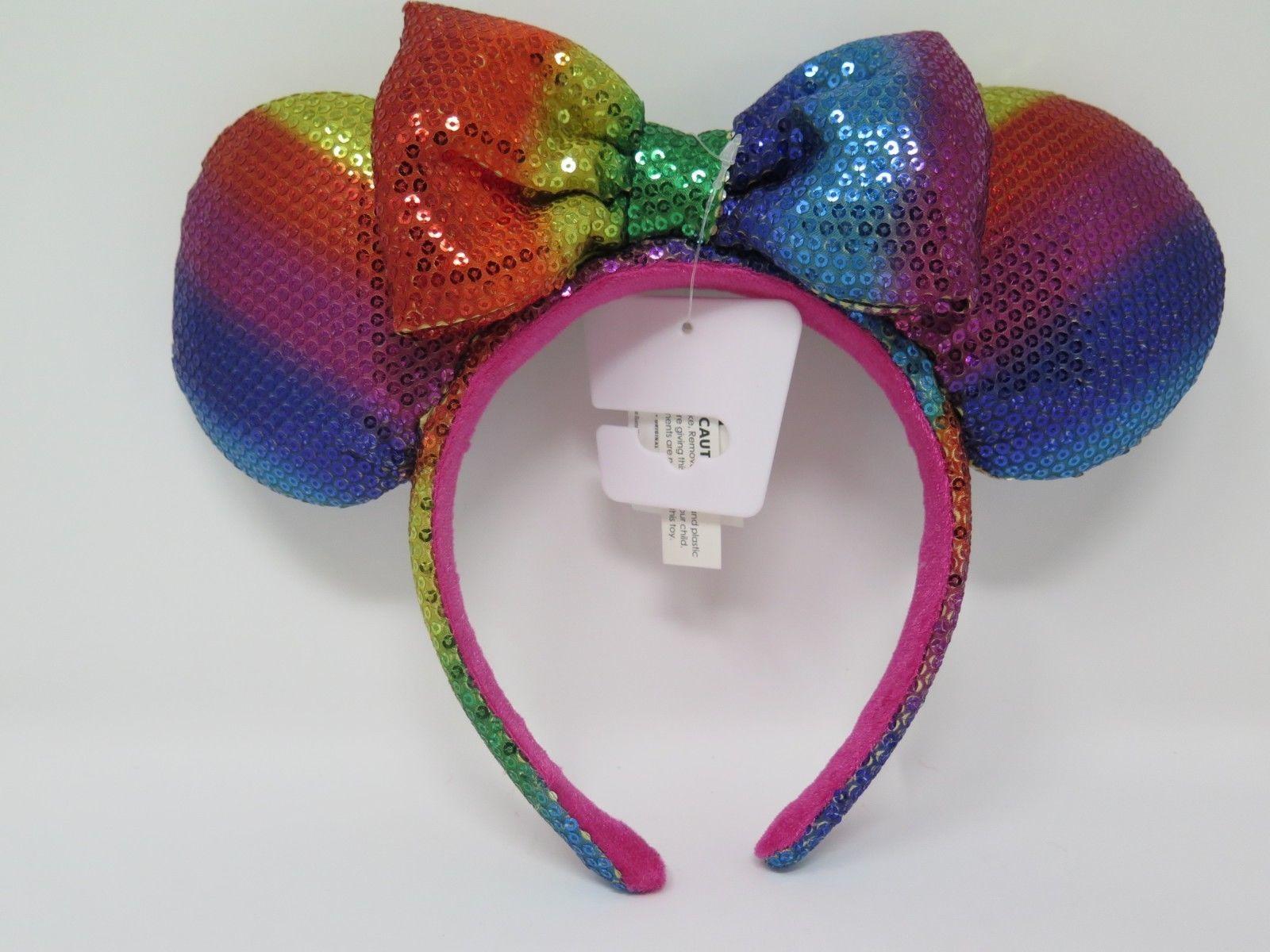 Disney Parks Polka Dot Mickey Gift Blue Sequins Minnie Mouse Ears Teal Headband
