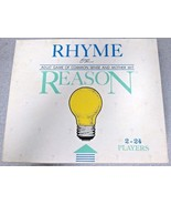 Rhyme or Reason Game 500 questions chips Adult game of common sense moth... - $29.69