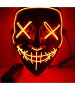 LED Mask Light Up Halloween Party Festival Cosplay Masquerade Horrific C... - $12.95