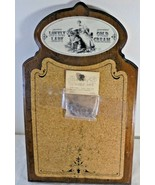 Vintage Old Fashioned Wood Frame Cork Bulletin Board Messages with Bubbl... - $18.78